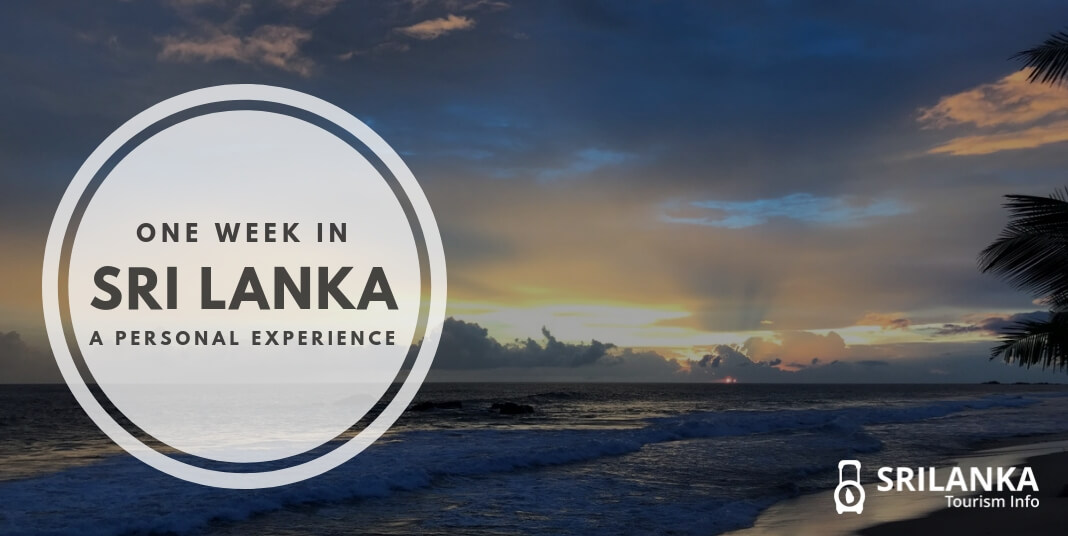 one week in sri lanka