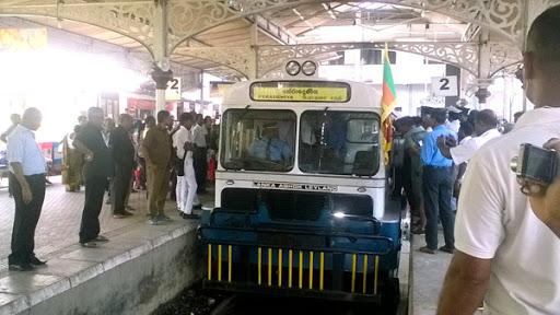 sri lankan rail bus inauguration